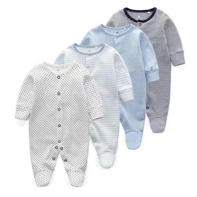 Vestiti Del Bambino appena nato Neonati Ragazza Footed Pigiama Roupa Bebe 2 Pacchetto Manica Lunga 3 6 9 12 Mesi Ragazzo Infantile tute e Tute da Palestra