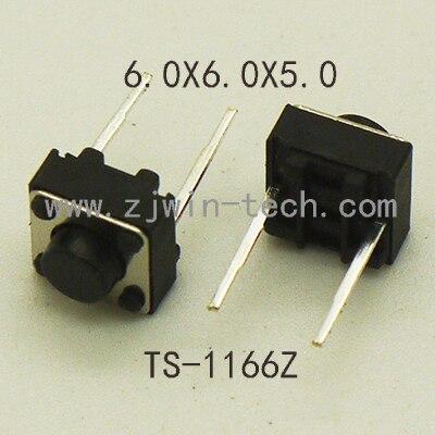 30 piezas Interruptor táctil Botón de tacto momentáneo Mini Botón de empuje 6x6x5mm medio 2PIN DIP nunca para ratón/Juguetes