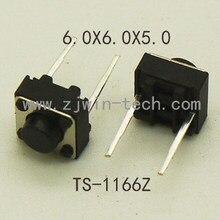 50 pces tátil interruptor momentâneo tato botão mini botão 6x6x5mm médio 2pin dip nunca para o mouse/brinquedos