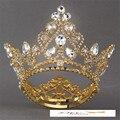 2017 Novo de Alta Qualidade vestido de Casamento Da Noiva Coroa de Cristal Austríaco Grande Rainha Da Coroa Acessórios Do Cabelo Do Casamento para As Mulheres FN-G011