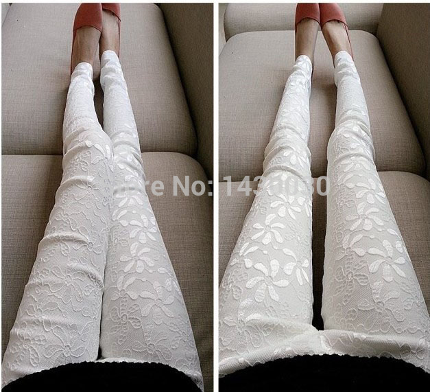Free Shipping New 2015 Spring New Crochet Leggings Casual Ladies E