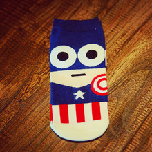 Harajuku Socks Hip Hop Ninja Batman Superman SpiderMan Captain America Avengers Short Novelty Sokken D129