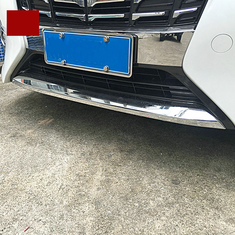 lsrtw2017 car-styling abs car front bumper trim for toyota alphard 2015 2016 2017 2018