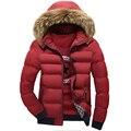 Зима осень мода мужчины парки тонкий сплошной новинка толстая одежда с капюшоном куртки и пиджаки теплое пальто свободного покроя Clohes топы