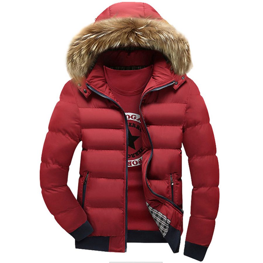 ФОТО Winter Autumn Fashion Men Parkas Slim Solid New Design Thick Clothes Hooded Outwear Jacket Warm Coat Brand Casual Clohes Tops