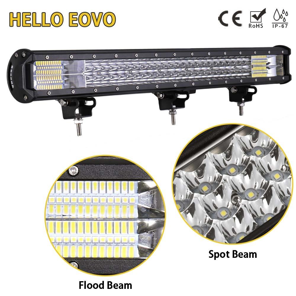 Bonjour EOVO 26 pouces barre de LED LED travail barre lumineuse conduite Offroad bateau voiture tracteur camion 4x4 SUV ATV 12 V 24 V évalué 360 W réel 98 W