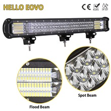 HELLO EOVO 26 inch 3 Rows LED Light Bar for Work Indicators Driving Offroad Boat Car