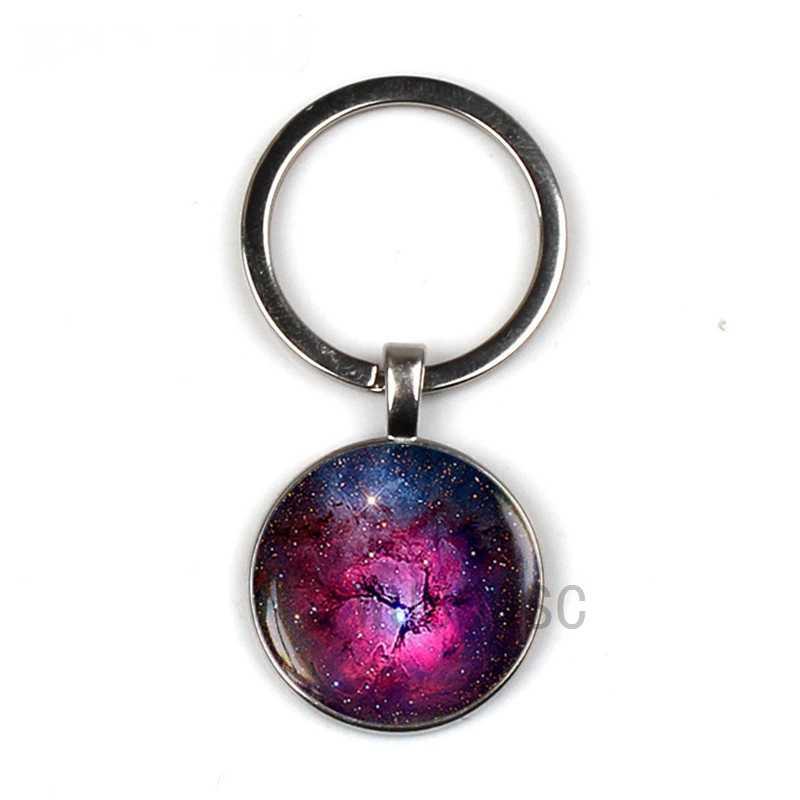 Tinh vân Galaxy Viễn Vọng Thiên Văn Mặt Dây Chuyền Năng Lượng Mặt Trời Đồ Trang Sức Vũ Trụ Không Gian Keychain Galaxy Đồ Trang Sức Tùy Chỉnh Riêng Hình Ảnh