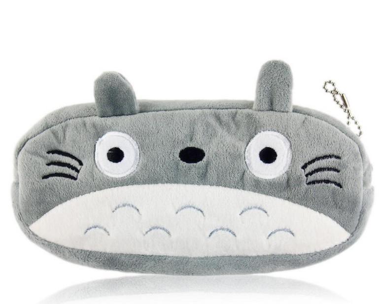 2017 Kawaii 20cm Totoro School Kids Pen Pencil Bag Case Gift Lady Girl's Cosmetics Purse & Wallet Coin Holder Pouch Bag H0014