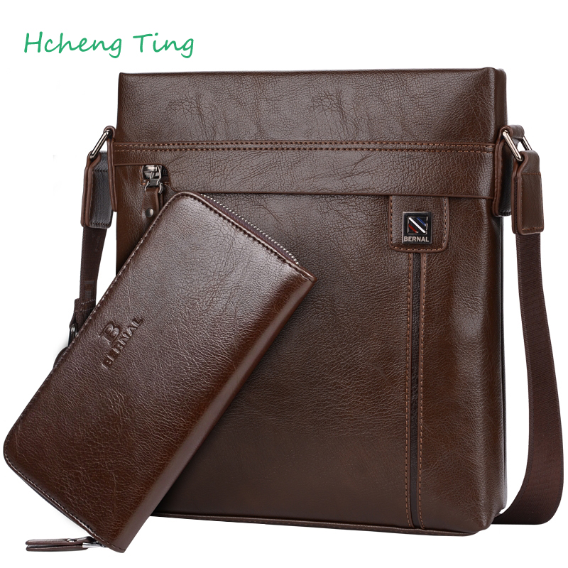 ФОТО Brand Designer Fashion Men Bags Leather Business Travel Messenger Bag Brand Design Men's Shoulder Bag