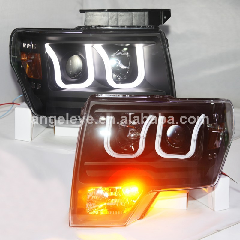 For Ford for Raptor LED Head Lamp Headlights front light with Halogen turnning light 2009-2014 Year LF