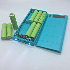 Image 2 - DIY 8x18650 зарядное устройство, внешний аккумулятор, пластиковый корпус, чехол, Type C, Micro, двойной USB порт, дисплей, внешний аккумулятор, коробка без аккумулятора