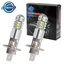 Light-Source Fog-Lamp-Headlight DRL Running-Light Auto White Led H1 12v Car LYMOYO 2pc
