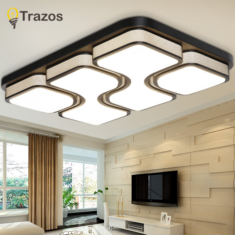 Black/White Modern Led Ceiling Lights For Living Room Bedroom 95-265V Indoor lighting Ceiling Lamp Fixture luminaria teto led ceiling lights for hallways bedroom kitchen fixtures luminarias para teto black white black ceiling lamp modern