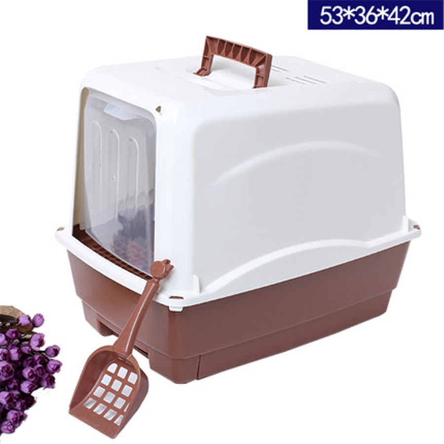 Plastic Pet Cat Litter Tray Toilets Box Product Sand Litter House Restroom Pet WC Products For Cats Supplies Toilet Tray QQM2459