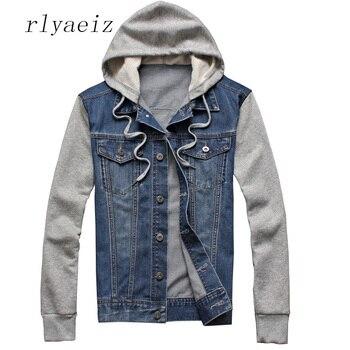 Rlyaeiz 2018 весна осень плюс размер джинсовые куртки мужские хлопок винтажная стирка воды деним одежда более размер джинсовые куртки, пальто 5XL >> RLYAEIZ Men's World Store