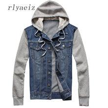 f61e1c8f402 Rlyaeiz 2018 Spring Autumn Plus Size Denim Jackets Men Cotton Vintage Wash  Water Denim Clothing Oversize Jeans Jackets Coats 5XL