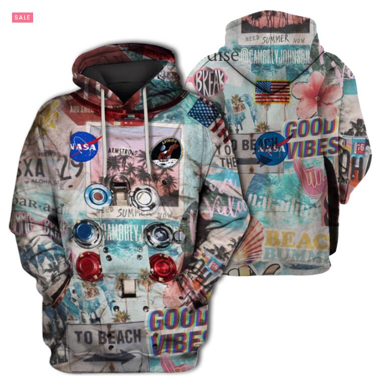 New 3D Armstrong Space Suite Hoodie Sweatshirt Men Women Zipper Casual Sweatshirt Cute Coseplay Astronaut Spacesuit Tee Style 1