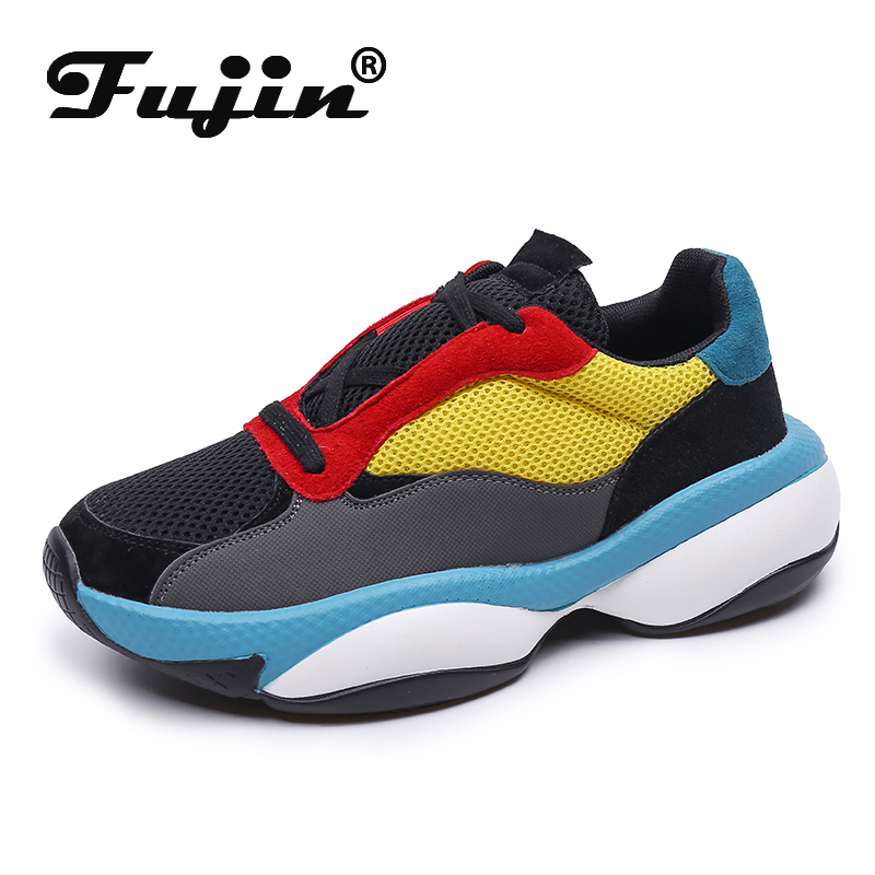 Fujin Women Fashion Sneakers Dropshipping Female Designer Chunky Shoes Breathable Platform Casual Vulcanized