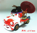 Pixar Cars Kabuki Mater Diecast Toy Car 1:55 Loose Japanese Geisha Hualian umbrella Metal Toy Car For Children