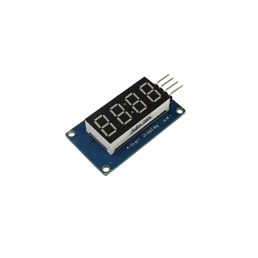 TM1637 светодиодный Дисплей модуль 7-сегментный 4 биты 0,36 дюйма часы красный анод цифровой трубки четыре последовательных драйвер платы Pack