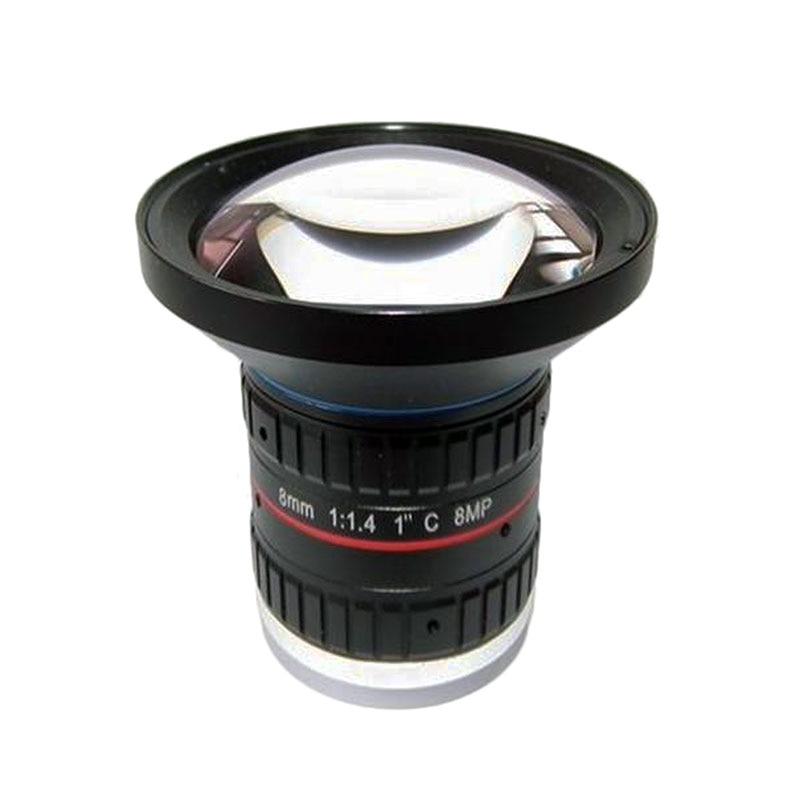 Megapixels HD 8MP 8 mm 1 CCTV C Mount Lens F1 4 Manual Focus Manual IRIS