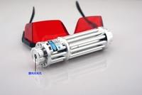 High power Military blue laser pointer 100W 100000M 450nm Flashlight burning match/dry wood/candle/black/burn cigarettes+glasses