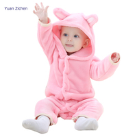 Baby Clothing Cute Cartoon Flannel Baby Rompers Novelty Rabbit Cotton Boy Girl Animal Rompers Stitch Baby