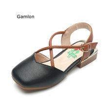 aa19ad74c6ffb Gamlon Fille de Chaussures Sandales 2018 Nouvelle Pour Les Enfants D été À  Talons Hauts Princesse Chaussures de Petites Filles E..