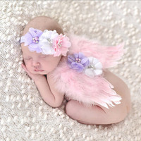 Baby Child Hairband Hair Accessories Baby Girl Chiffon Pearl Flower Headband Infant Headband Ribbon Elasticity Angel