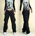 Calças Cargo Do Exército Das Mulheres de inverno Tamanho grande 40 calças de Dança Solta calças das senhoras hip hop plus size calças cargo largas para feminino