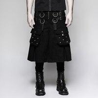 Стимпанк для мужчин тяжелый металл рок темно серии Металл воин юбка повседневное ретро брюки для девочек юбки женщин