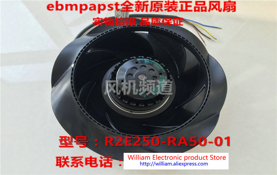 New Original EBM PAPST R2E250-RA50-01 AC 230W 210/285W Inverter cooling fan new original ebm papst 9906l 9906 l ac 115v 120ma 100ma 9w 8w 120x120x25mm axial cooling fan