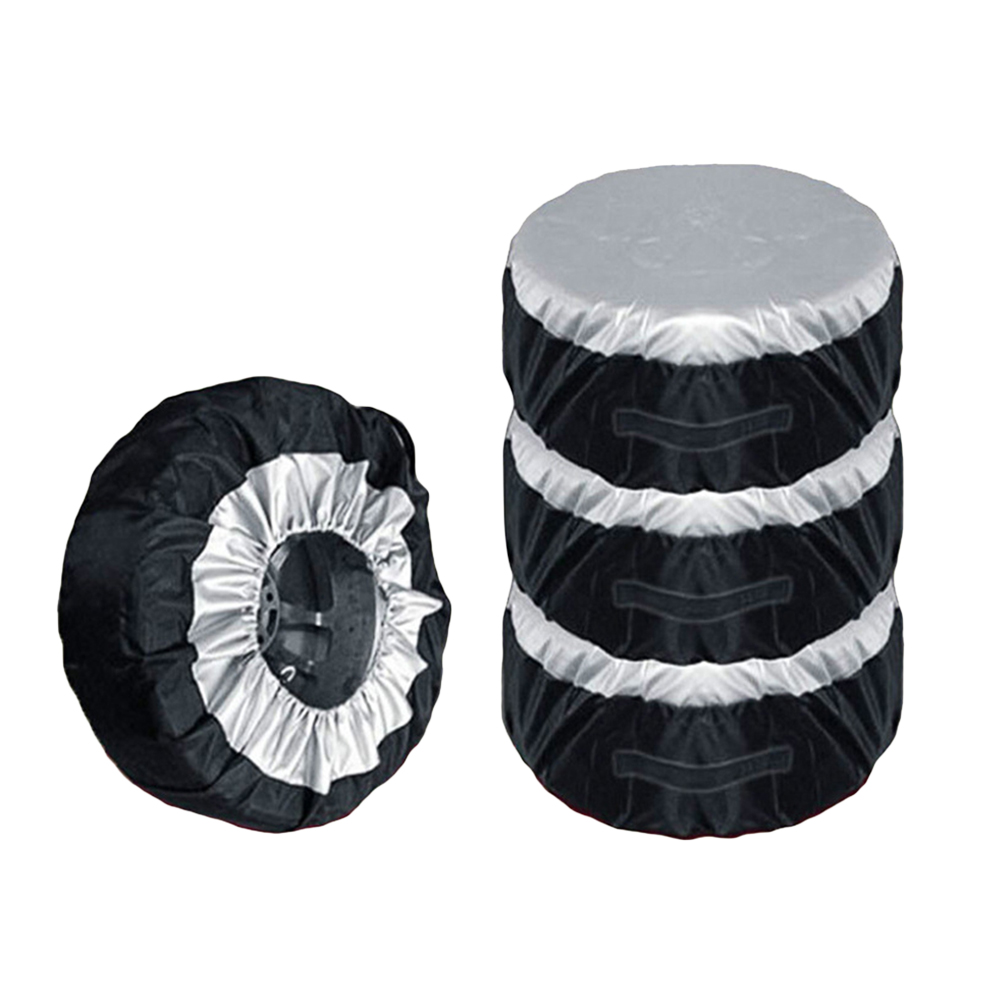 Car-Spare-Tire-Covers Automobiles-Accessories Dustproof And Wheel for 65cm 4pcs title=