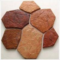 6 Bricks/1 Piece Plastic MOLD for Concrete Garden Stepping Stone Slab Slate Culture Wall Tiles Wall Decor