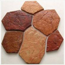 6 bricks1 piece plastic mold for concrete garden stepping stone slab slate culture wall tiles wall decor - Concrete Tile Garden Decor
