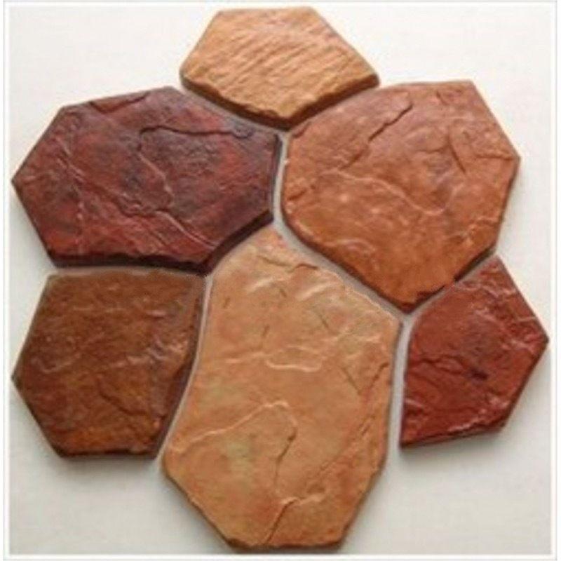 6 Bricks/1 Piece Plastic MOLD For Concrete Garden Stepping Stone Slab Slate  Culture Wall