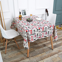 High quality Linen thicken Table Flag Tablecloth Cloth table cover  cotton table cover for table Home Textile party