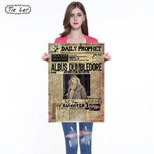 Albus Dumbledore Principal Vintage cartel Retro de Kraft profeta carteles 42X30cm