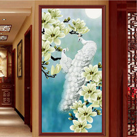 Magnolia And Peacock 5D Diy Diamond Embroidery Painting Europe Style Home Decoration Square Resin Drill Cross
