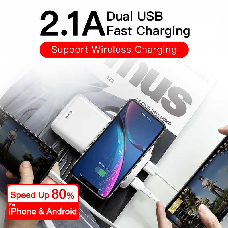 Baseus 10000Mah Qi Draadloze Oplader Power Bank Externe Batterij Draadloos Opladen Powerbank Voor IPhone11 X Samsung Huawei Xiaomi