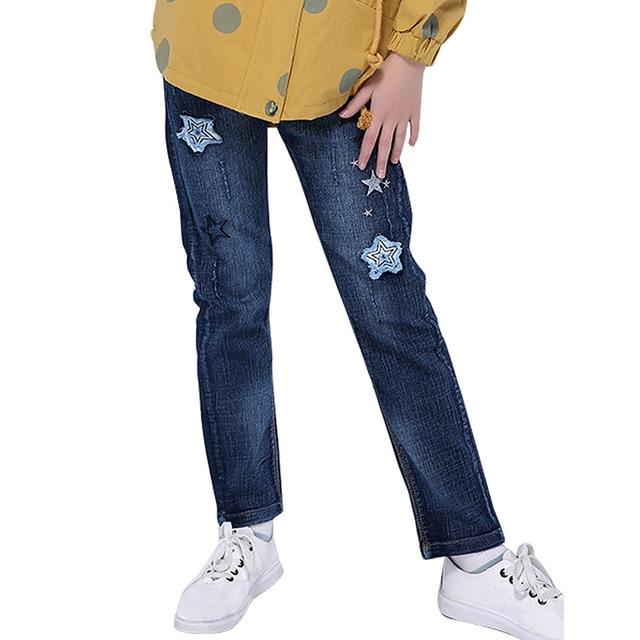 a49a3e573c2ff9 Bambini Jeans Strappati Per I Vestiti Delle Ragazze Paillettes Stelle  Stampa Pantaloni Per Le Ragazze Del