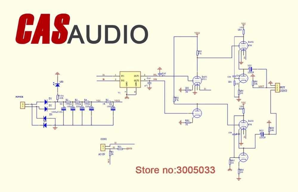 6DJ8 6922 6H6 White Cathode Follower WCF Class A Tube Headphone Amplifier  AMP