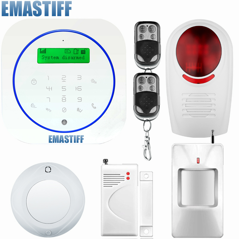 English/Deutsch/Espanol/Italiano/Francais 433MHz Wireless Wired Home Security Burglar GSM Alarm System Auto Dial SMS Call free shipping wireless sim gsm home burglar security lcd keyboard gsm alarm system sensor kit deutsch espanol italiano francais