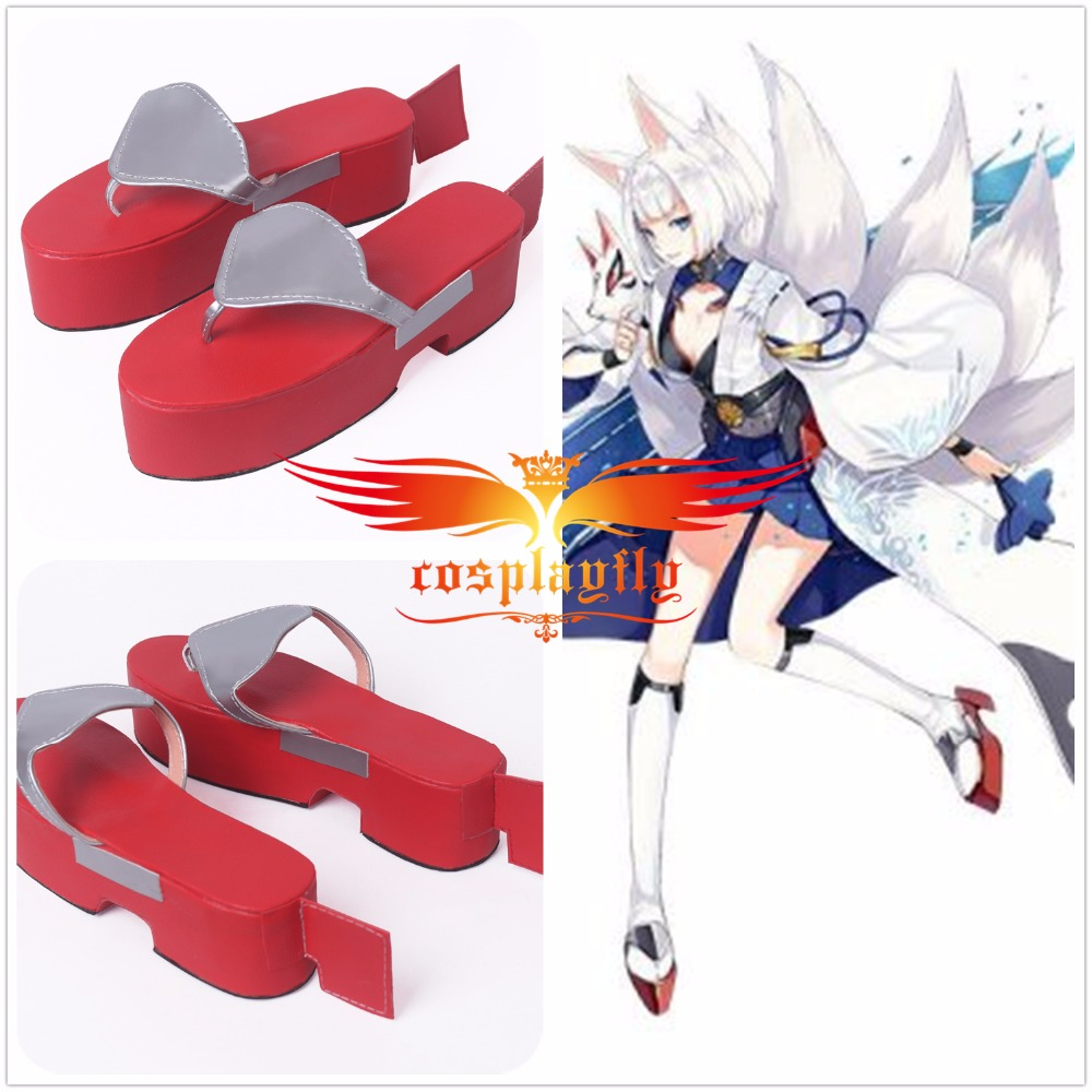 Azur Lane Kaga Red Trippen PU Adult Shoes Cosplay Adult Boots For Costume Halloween Gender height