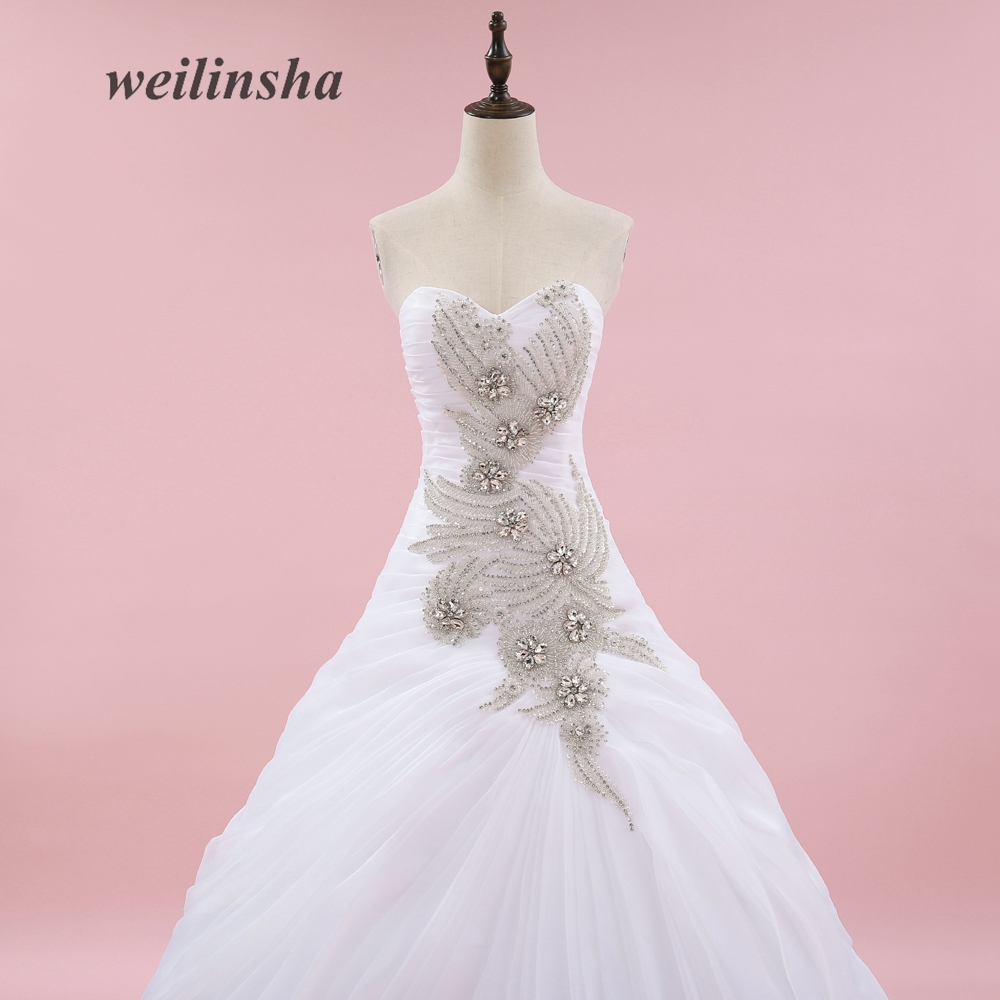 weilinsha Organza Romantic Wedding Dresses Vintage Ball Gown ...