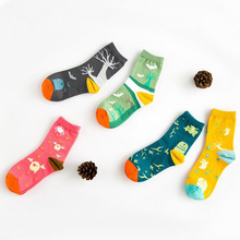 NEW Halloween Socks Korea Funny Creative Skeleton Bat Catoon Socks Soft Comfortable Breathed Pure Cotton Women Socks