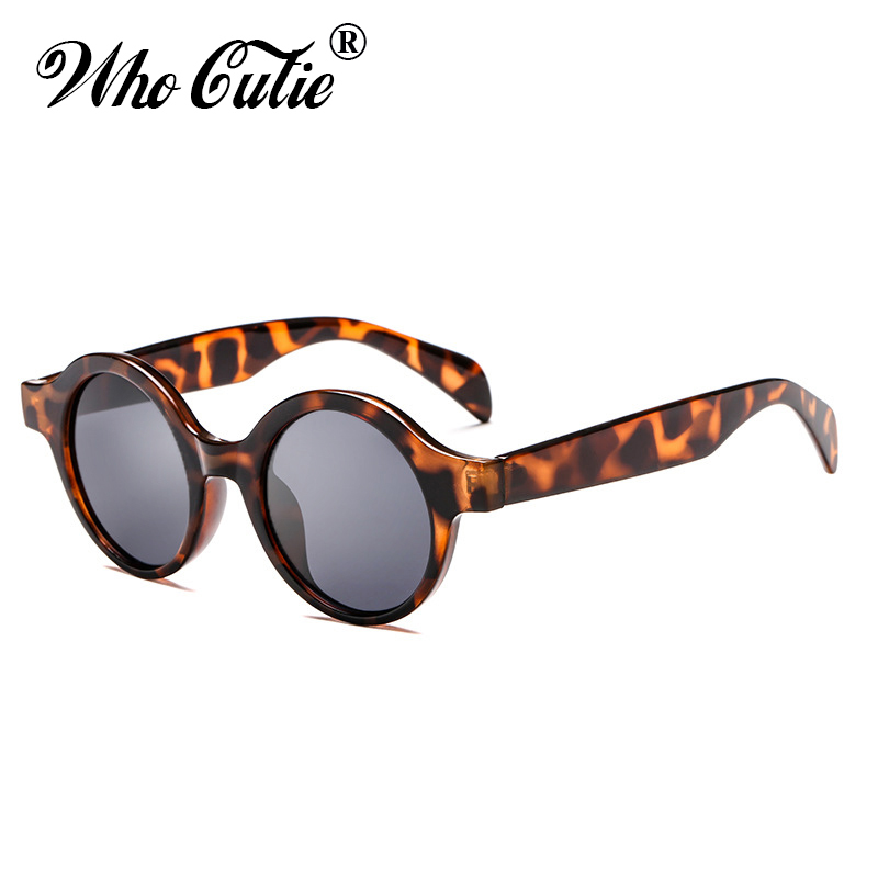 ba2745295d5 WHO CUTIE 2018 Small Round Red Sunglasses Women Men Brand Designer Vintage  Retro Circle frame Sun