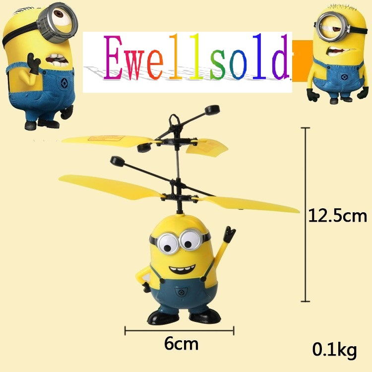 Ewellsold Mini RC Helicopter Induction Flying Remote Control drones Kids Electronic Toys Free shipping