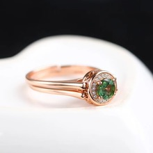gemstone fine jewelry factory wholesale 3x5mm oval 925 sterling silver natural colorful tourmaline ring for women
